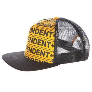 Бейсболка  Axle Bar Trucker Gold Black Independent. Цвет: черный,оранжевый
