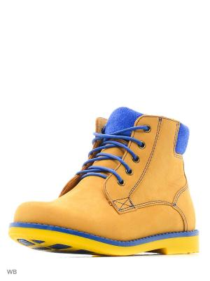 Ботинки San Marko. Цвет: желтый, синий