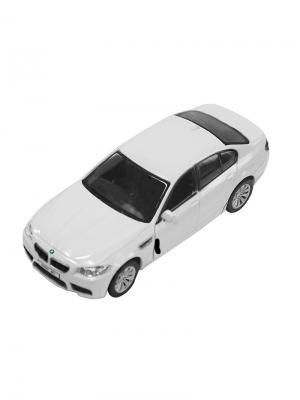 Машинка Инерционная BMW M5, Белая (1:32) (PS-554004-W) Pit Stop. Цвет: белый