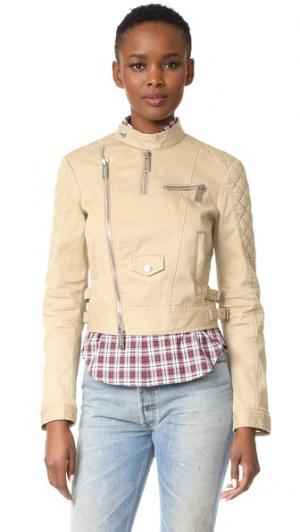 Спортивная куртка DSQUARED2. Цвет: бежевый