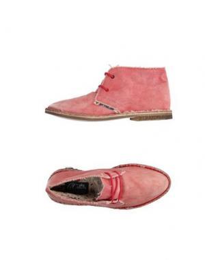 Полусапоги и высокие ботинки LE CROWN. Цвет: розовый