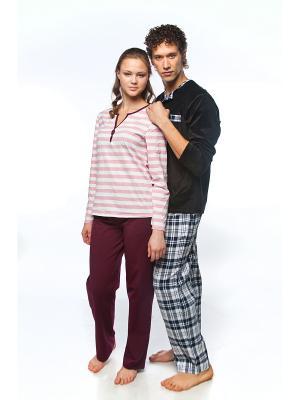 Пижама Lowry. Цвет: розовый
