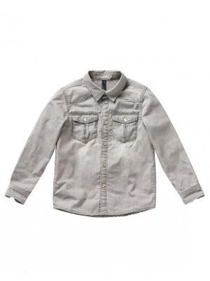 Рубашка United Colors of Benetton. Цвет: серый