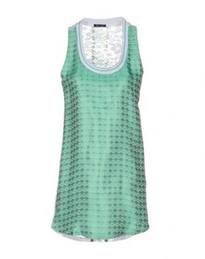 Короткое платье ODI ET AMO. Цвет: светло-зеленый