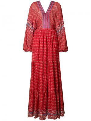 Длинное платье Ulla Johnson. Цвет: красный