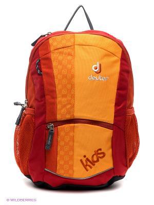 Рюкзак Deuter. Цвет: красный, оранжевый, серый