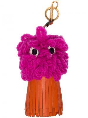 Подвеска shag shop eyes Anya Hindmarch. Цвет: розовый и фиолетовый