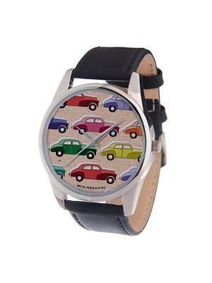 Часы Mitya Veselkov Цветные машинки Арт. MV-157. Цвет: бледно-розовый