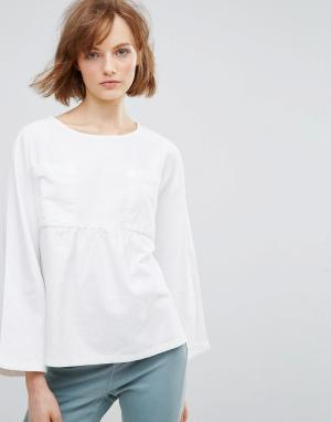Waven Свободная блузка Annelie. Цвет: белый