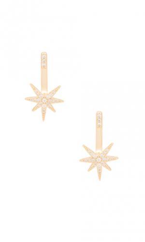 Серьги starburst joolz by Martha Calvo. Цвет: металлический золотой