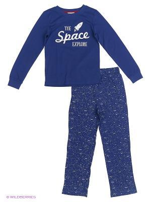 Комплект пижамный жен. INCITY. Цвет: темно-синий, белый
