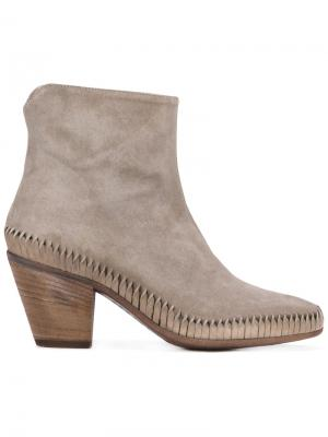 Woven base ankle boots Officine Creative. Цвет: серый