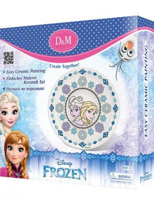 Набор для росписи тарелки Принцессы Делай с мамой. Цвет: голубой