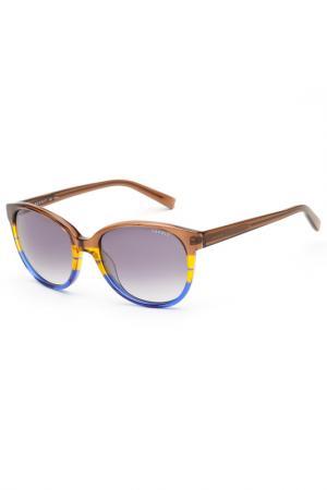 Очки солнцезащитные Esprit. Цвет: сине-коричневый