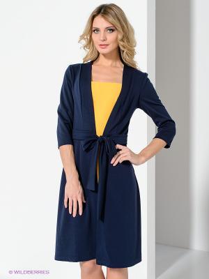 Платье Spicery. Цвет: темно-синий, желтый