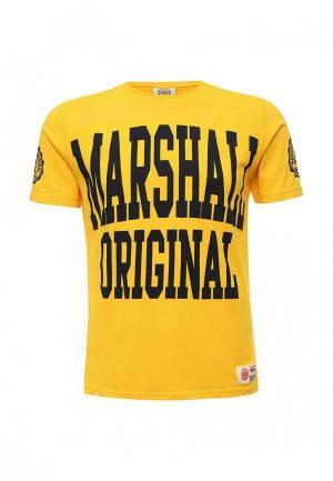 Футболка Marshall Original. Цвет: желтый