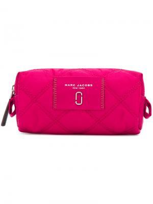 Косметичка с логотипом Marc Jacobs. Цвет: розовый и фиолетовый