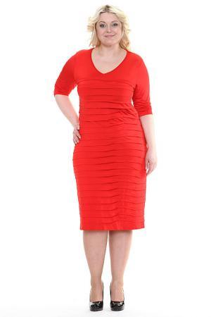Платье Руслана Зар-Стиль. Цвет: красный