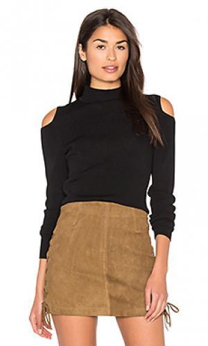 Свитер с открытыми плечами melinda 360 Sweater. Цвет: черный