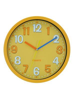 Часы настенные ArteNuevo. Цвет: желтый