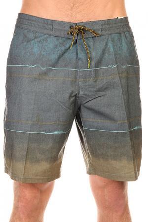 Шорты пляжные  Spin Lo Tides 18.5 Olive Billabong. Цвет: серый,голубой,зеленый