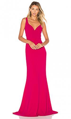 Вечернее платье без рукавов JILL STUART. Цвет: фуксия