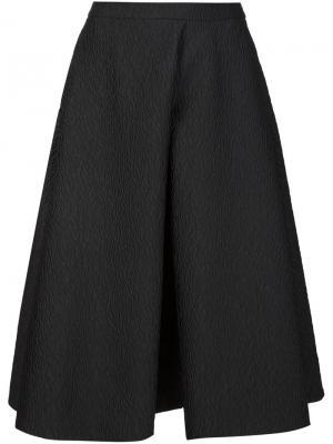 Фактурная юбка со складками Monique Lhuillier. Цвет: чёрный
