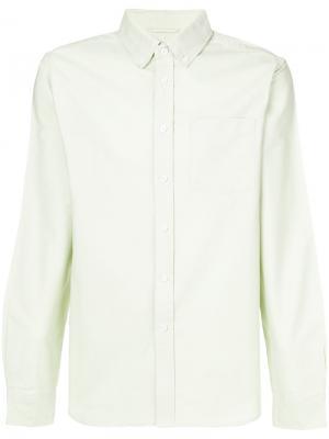 Рубашка на пуговицах Saturdays Nyc. Цвет: зелёный