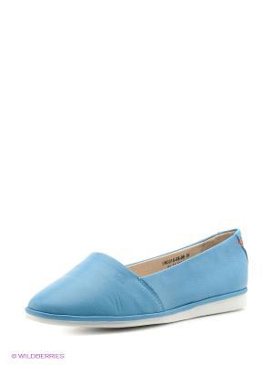 Балетки Spur. Цвет: голубой