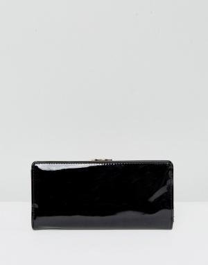 New Look Лакированный кошелек. Цвет: черный
