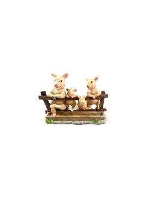 Садовая фигура - Семья Свинок Marquis. Цвет: коричневый, кремовый