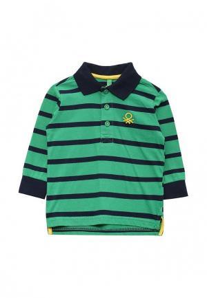 Поло United Colors of Benetton. Цвет: зеленый