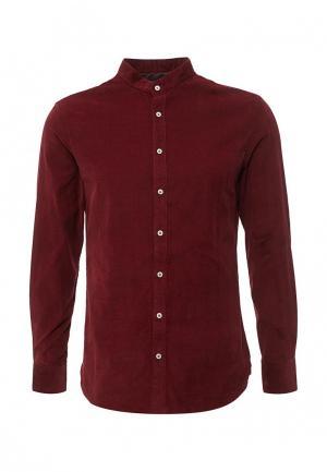 Рубашка Mango Man. Цвет: бордовый