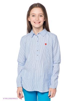 Рубашка American Outfitters. Цвет: голубой, белый