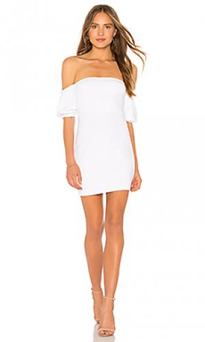 Melody gathered short sleeve 16 dress Susana Monaco. Цвет: белый