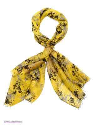Платок Michel Katana. Цвет: желтый, темно-коричневый, серый
