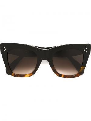 Солнцезащитные очки в оправе кошачий глаз Céline Eyewear. Цвет: коричневый