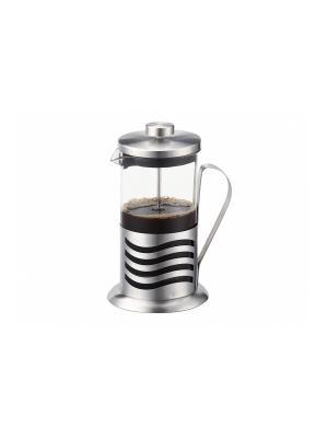 Чайник-заварник френч-пресс 0,6л, сохраняет аромат напитка Peterhof. Цвет: серебристый