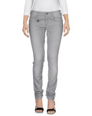 Джинсовые брюки COSTUME NEMUTSO. Цвет: серый