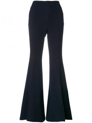 Расклешенные брюки с завышенной талией Pence. Цвет: синий