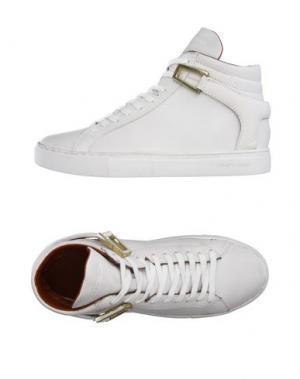 Высокие кеды и кроссовки CRIME LONDON. Цвет: белый