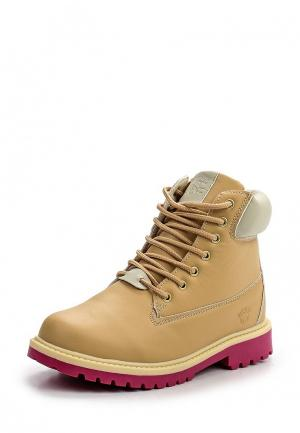 Ботинки Acoola. Цвет: бежевый