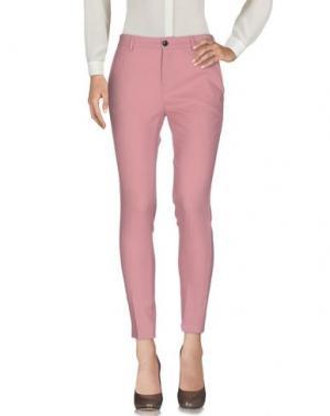 Повседневные брюки DEPARTMENT 5. Цвет: пастельно-розовый
