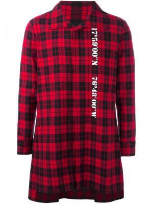 Удлиненная рубашка в клетку D.Gnak. Цвет: красный