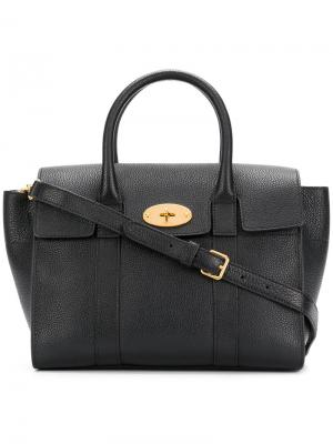 Bayswater small leather tote Mulberry. Цвет: чёрный