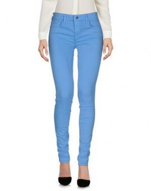 Повседневные брюки GENETIC DENIM. Цвет: лазурный
