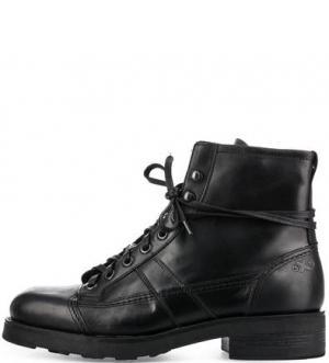 Кожаные ботинки черного цвета O.X.S.. Цвет: черный