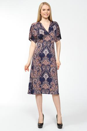 Приталенное платье со свободными рукавами Arrangee. Цвет: синий