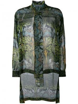 Прозрачная блузка Alberta Ferretti. Цвет: зелёный
