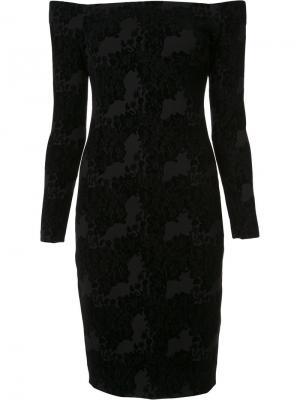 Облегающее платье с открытыми плечами Lagence L'agence. Цвет: чёрный